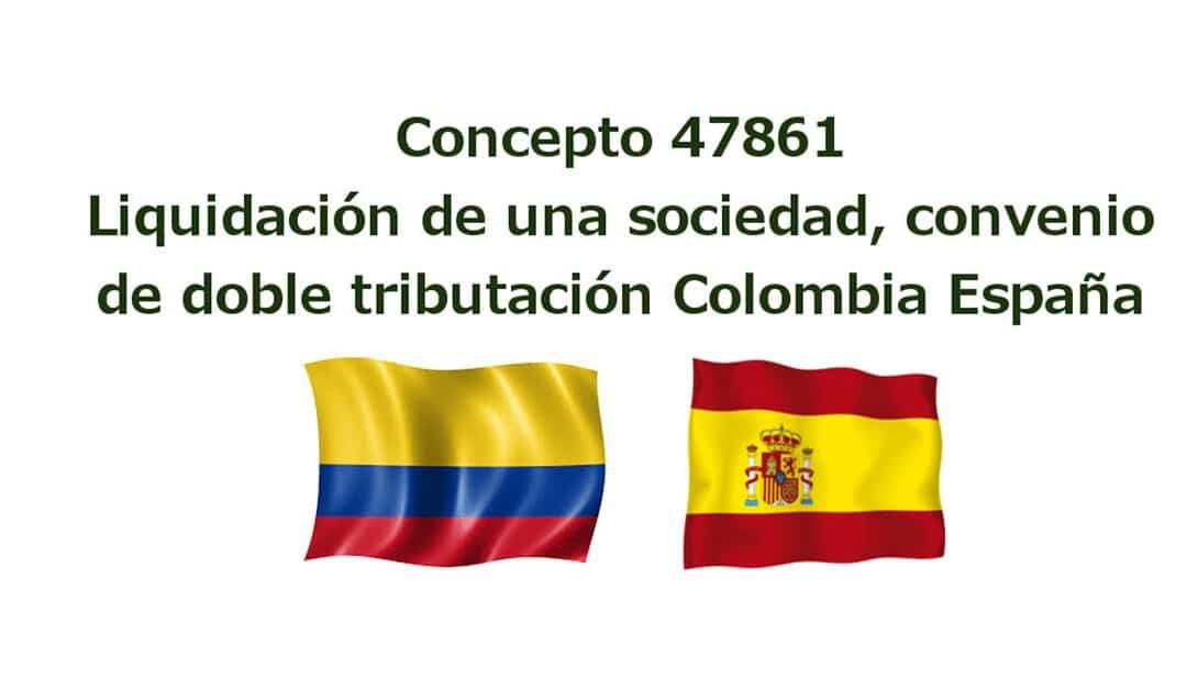 Terminación de una sociedad convenio de doble tributación Colombia – España