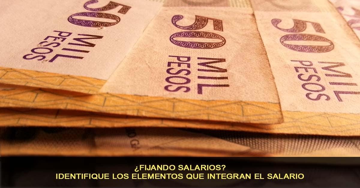 Fijando salarios - identifique los elementos que integran el salario