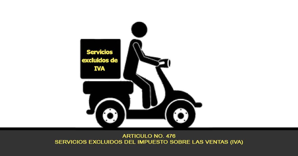 Servicios excluidos del impuesto sobre las ventas (IVA)