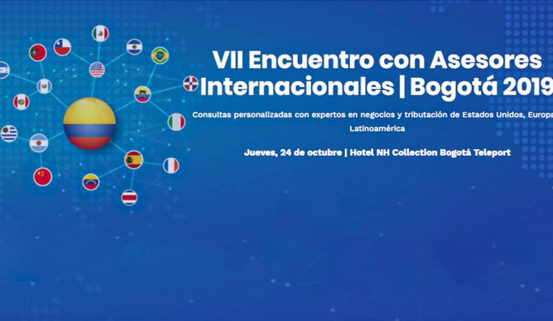 VII Encuentro con Asesores Internacionales Bogotá 2019