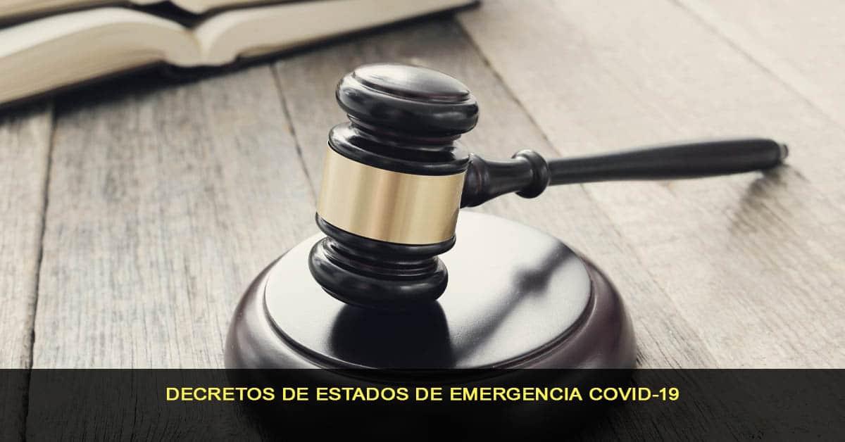 Decretos de estados de emergencia COVID-19
