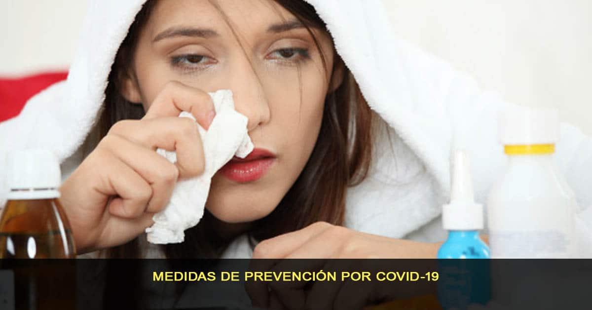 Medidas de prevención por COVID-19
