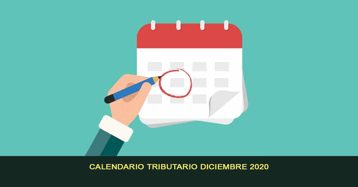 Calendario tributario diciembre 2020
