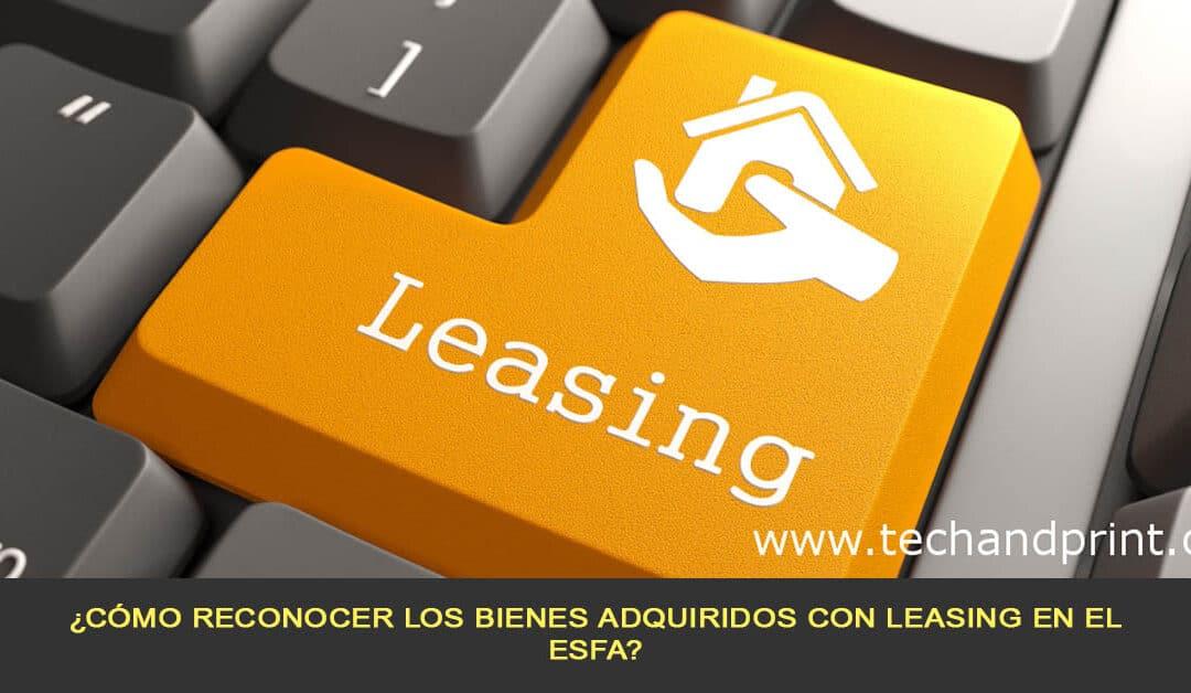 ¿Cómo reconocer los bienes adquiridos con leasing en el ESFA?