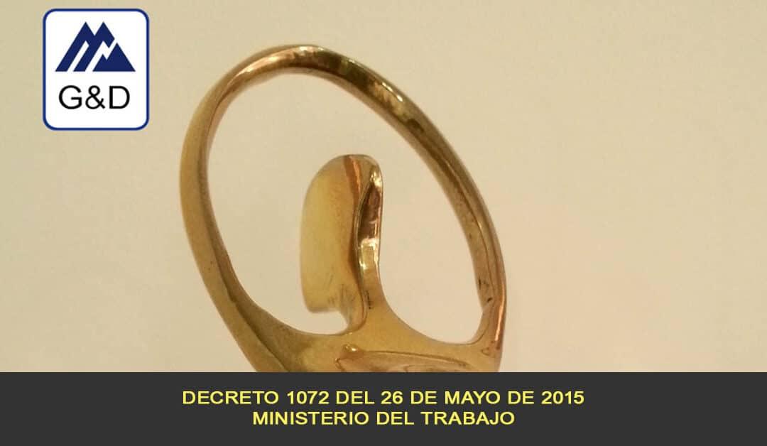 Decreto 1072 del 26 de mayo de 2015 del Ministerio del Trabajo