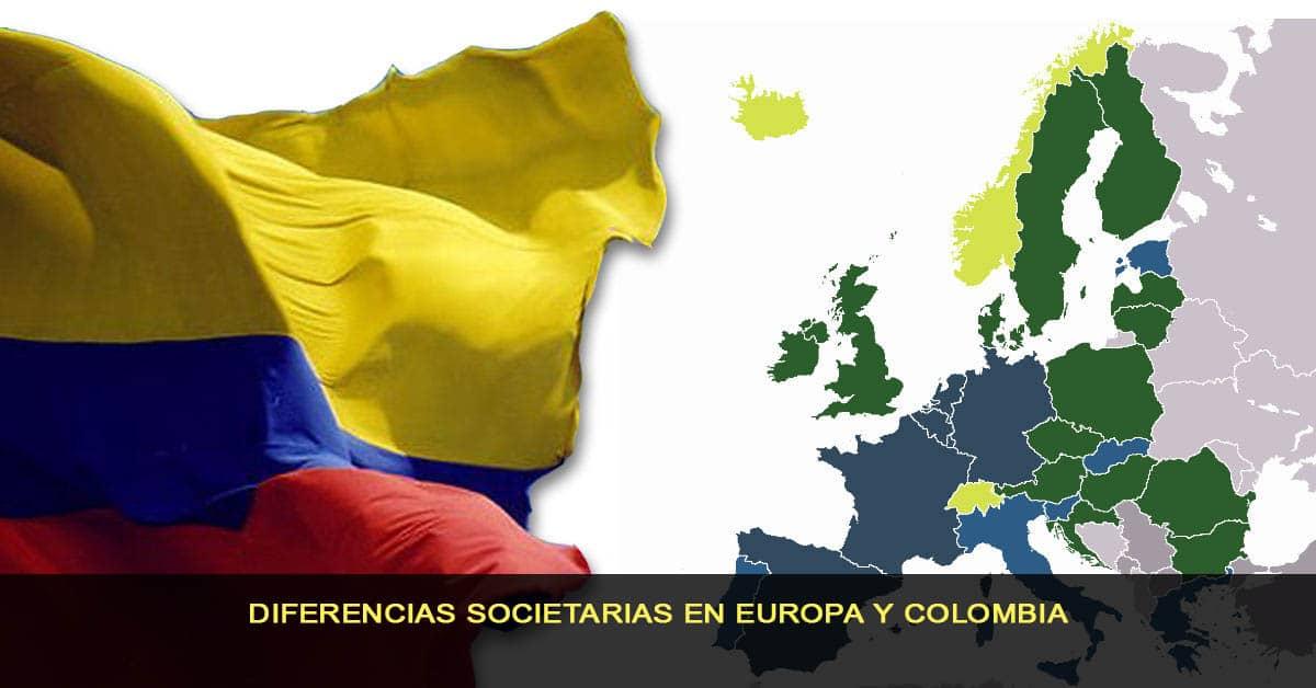 Diferencias societarias en Europa y Colombia
