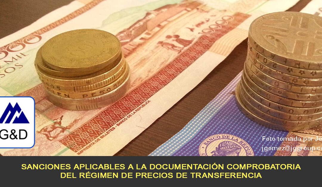 Sanciones aplicables a la Documentación Comprobatoria del régimen de precios de transferencia