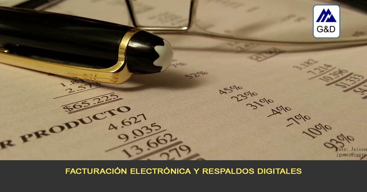 Facturación electrónica y respaldos digitales