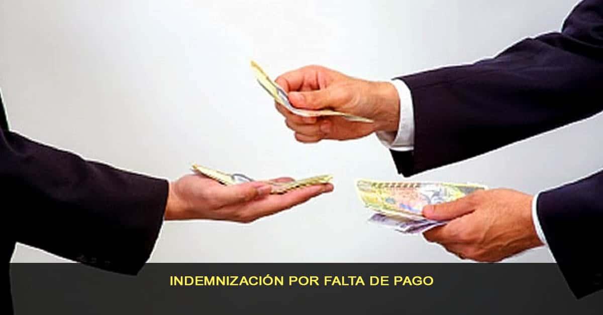 Indemnización por falta de pago