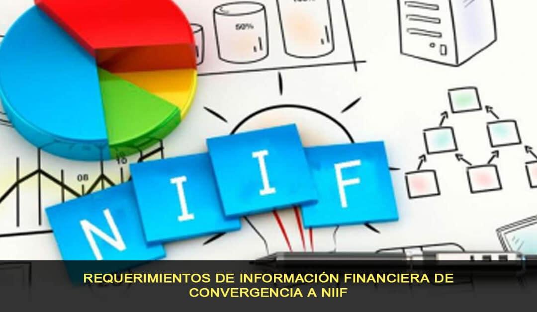 Requerimientos de Información Financiera de Convergencia a NIIF