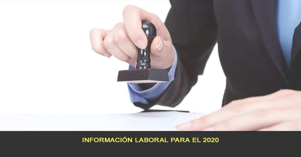 Información laboral para el 2020