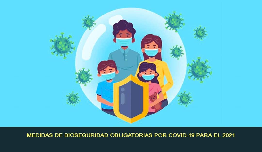 Medidas de bioseguridad obligatorias por COVID-19 para el 2021