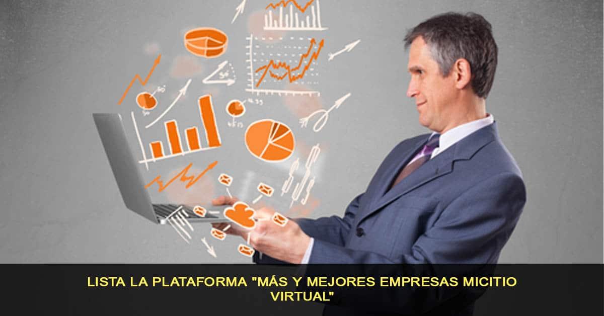 """Lista la plataforma """"Más y Mejores Empresas MiCitio Virtual"""""""