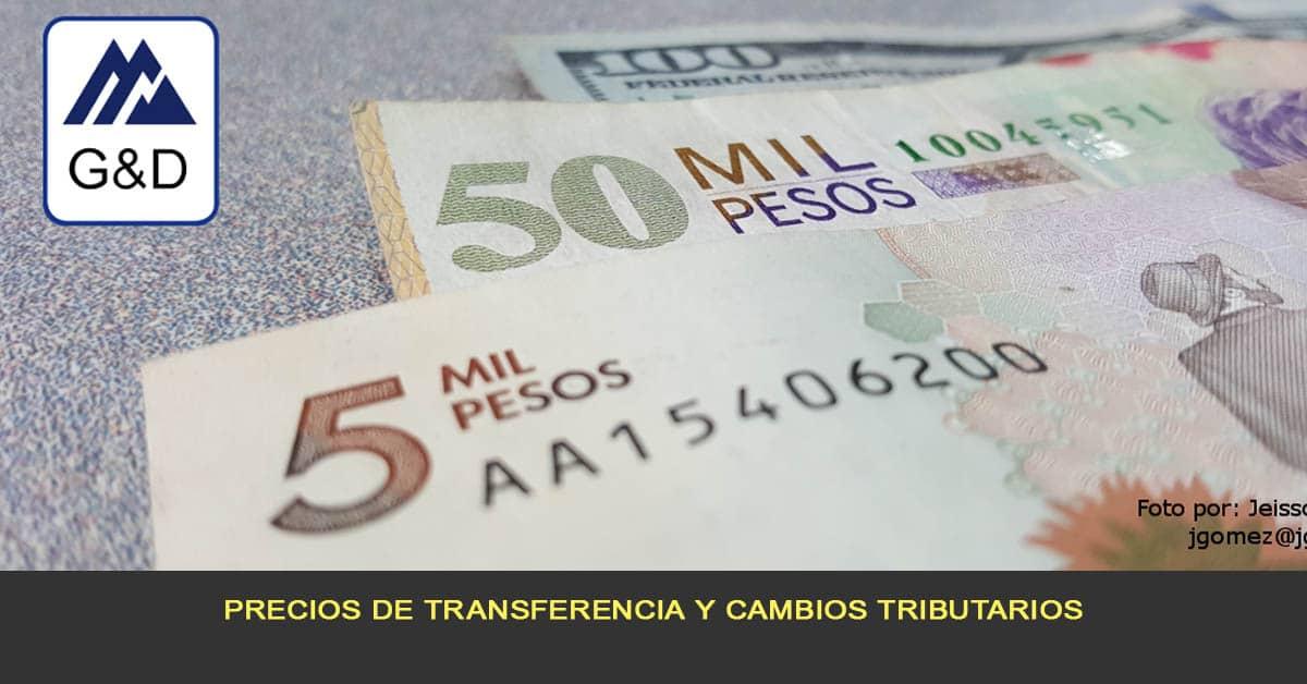 Precios de transferencia y cambios tributarios