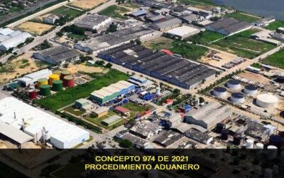 Procedimiento Aduanero, Concepto 974