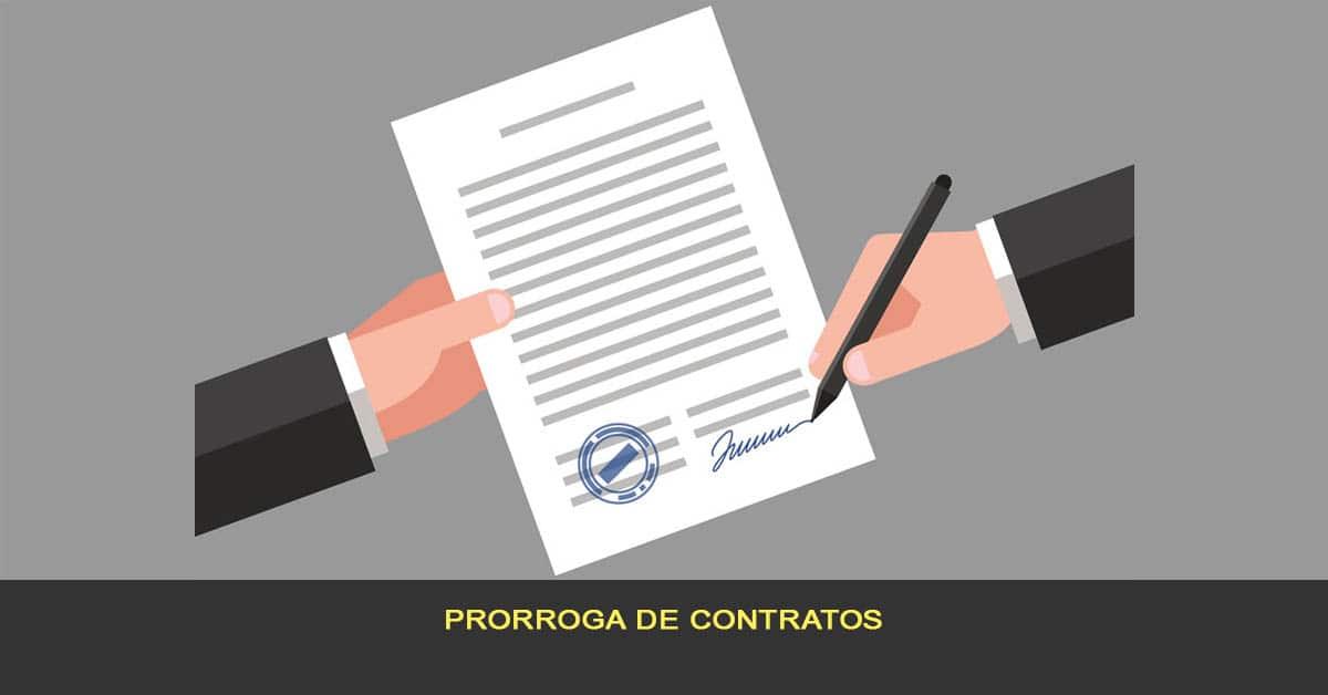 Prorroga de contratos