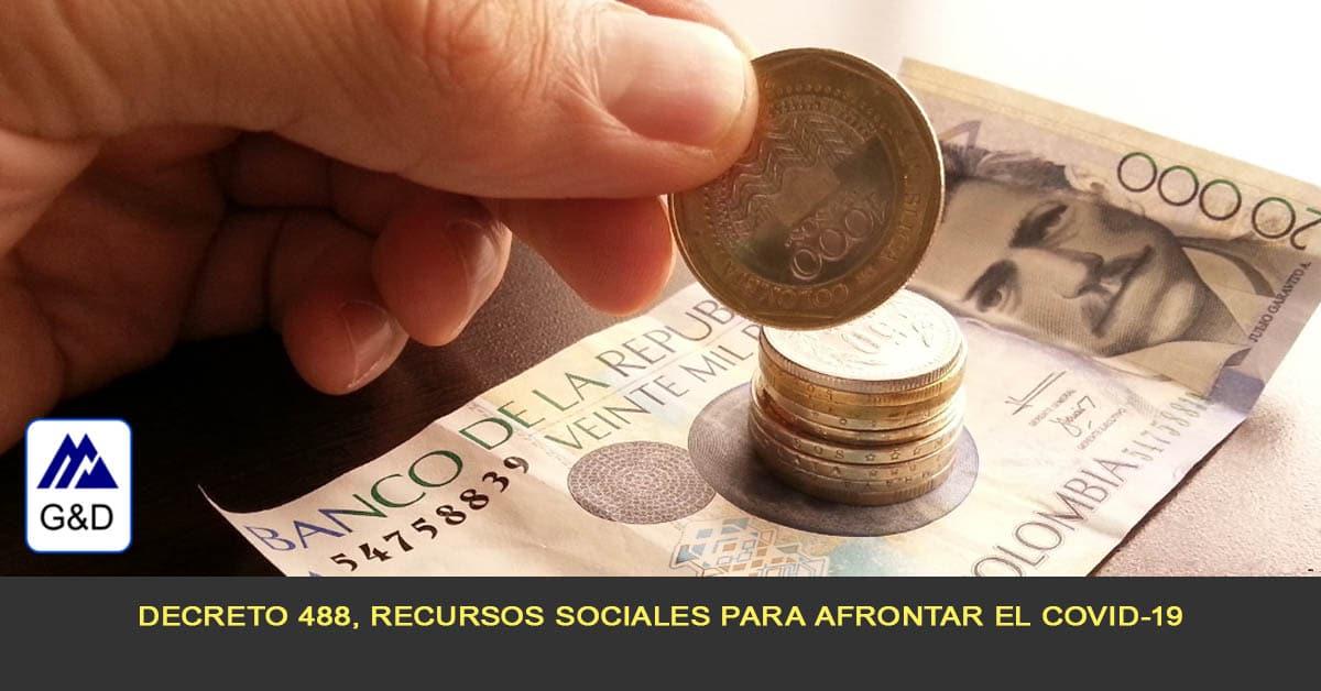 Decreto 488, Recursos sociales para afrontar el COVID-19