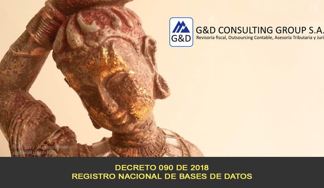 Decreto 090, Registro nacional de bases de datos