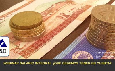 Webinar Salario integral ¿Qué debemos tener en cuenta?