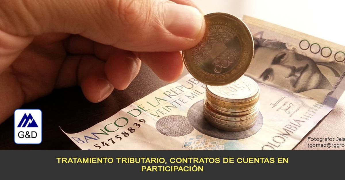 Tratamiento tributario, contratos de cuentas en participación