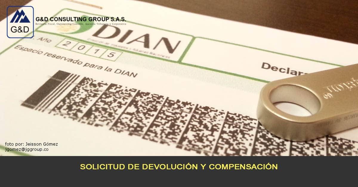 Solicitud de devolución y compensación
