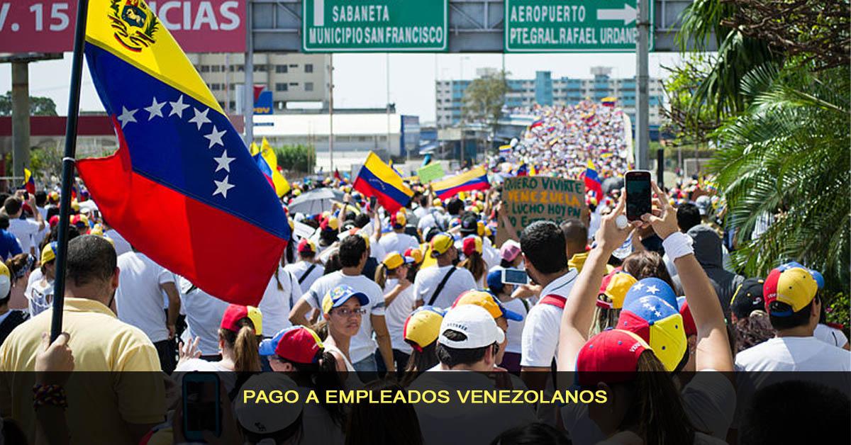 pago a empleados venezolanos