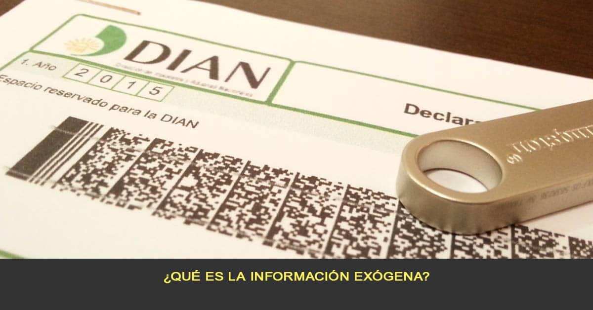 ¿Qué es la información Exógena?