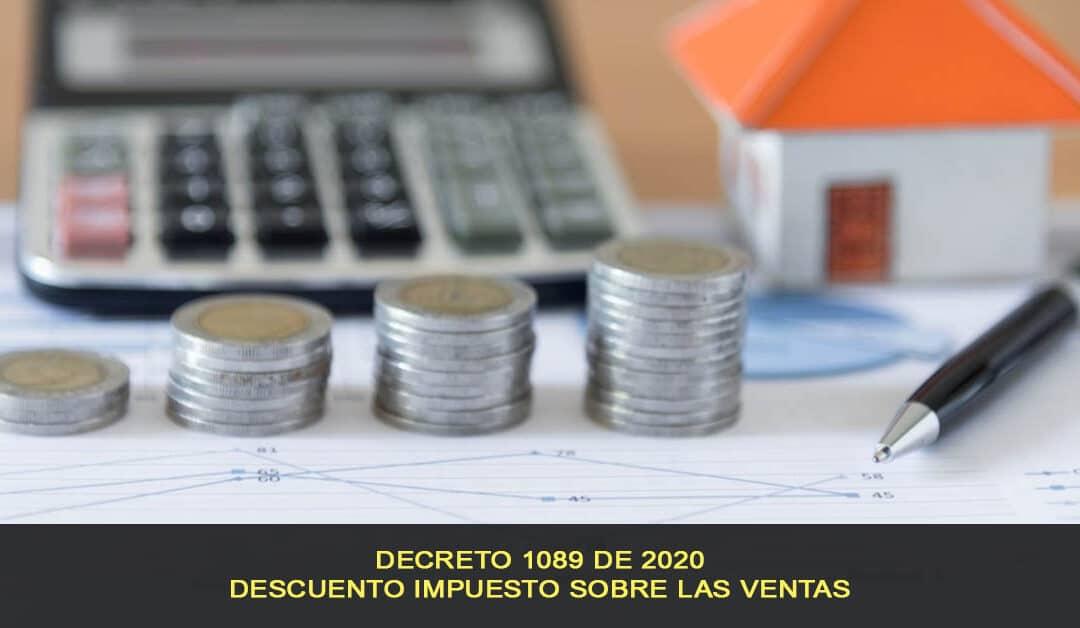 Descuento del impuesto sobre las ventas, Decreto 1089