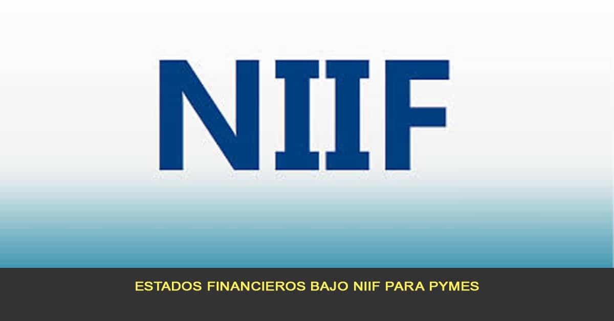 Estados financieros bajo NIIF para pymes