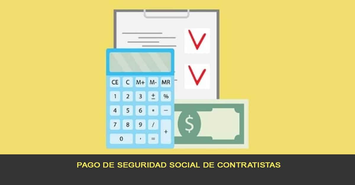 pago de seguridad social de contratistas