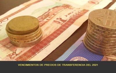 Vencimientos de precios de transferencia del 2021