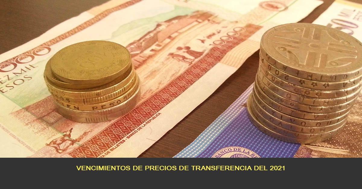 Vencimientos de precios de transferencia año 2021