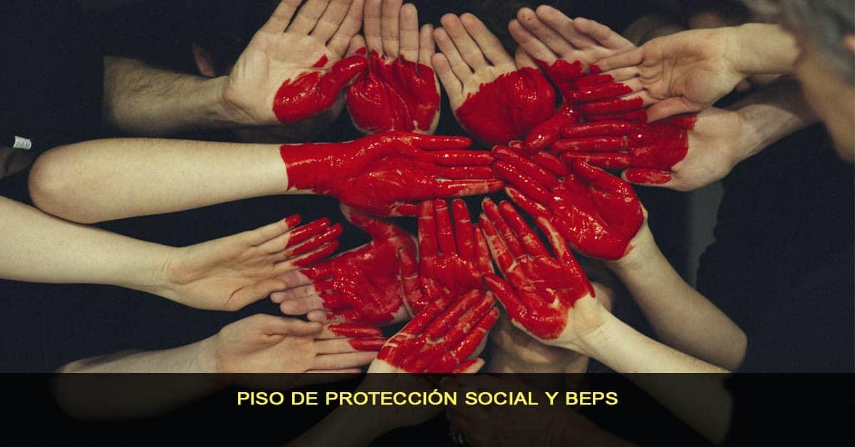piso de protección social y Beps