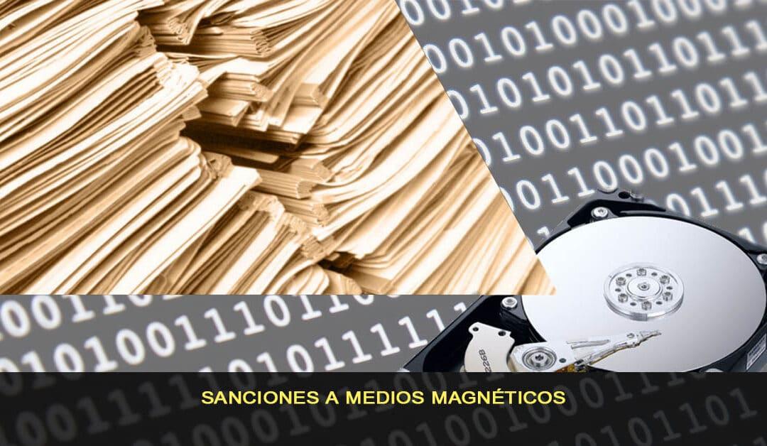 Sanciones a medios magnéticos