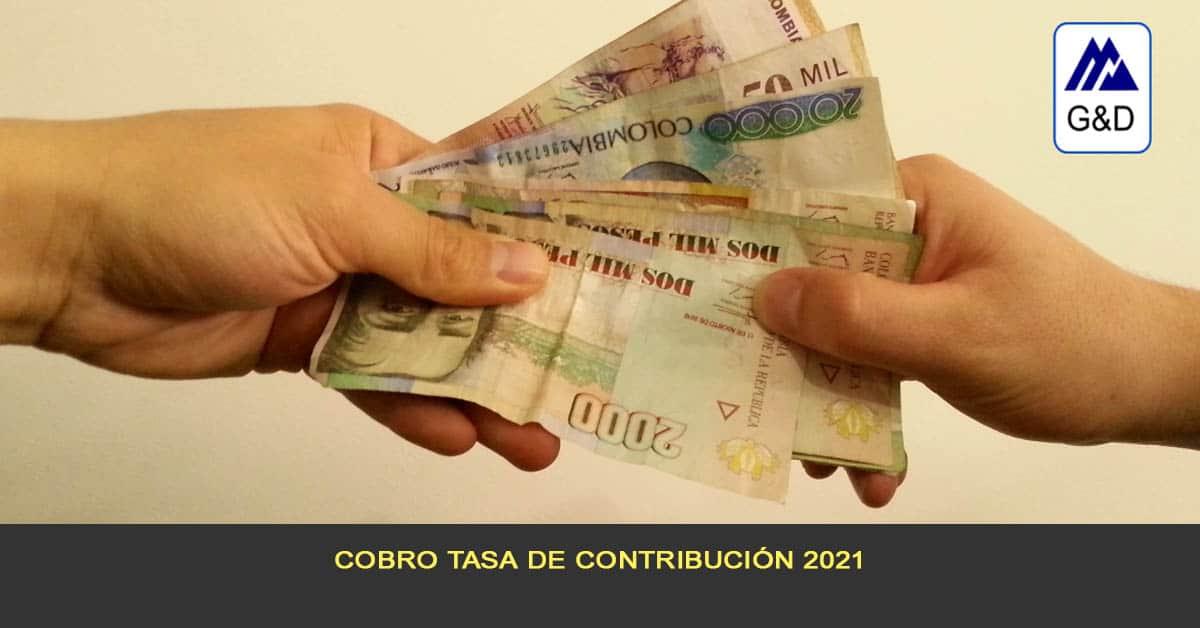 Cobro tasa de contribución 2021
