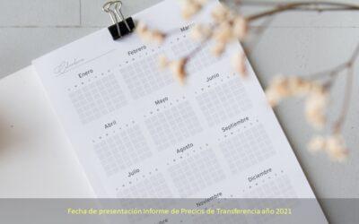 Precios de transferencia calendario 2021