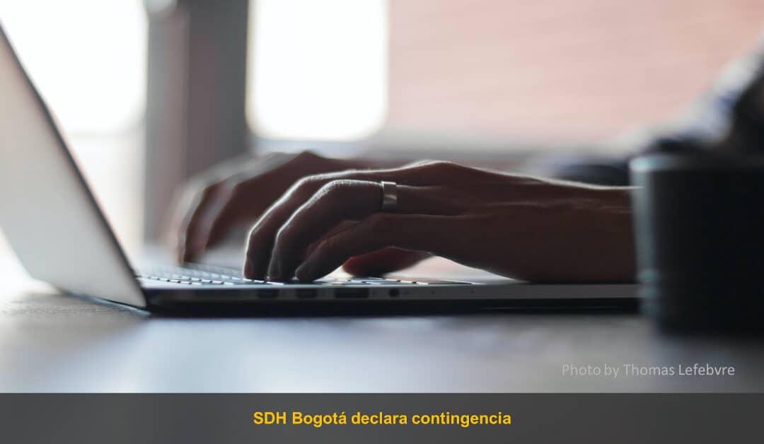 SDH de Bogotá declaró contingencia